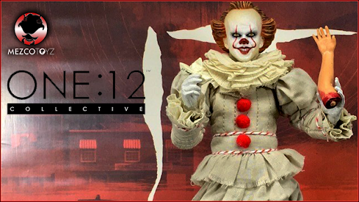 """IT """"Pennywise"""" 2017 One:12 Collective Action Figure ( 1/12 Scale ) Mezco Toys"""