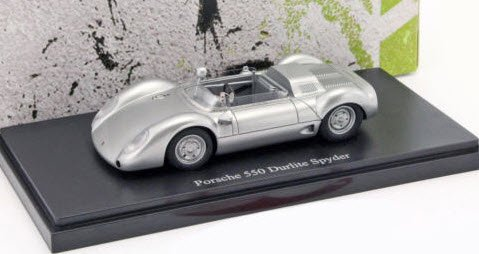 Porsche 550 Durlite Spyder (Germany, 1959) Zilver 1-43 Autocult Limited 333 Pieces