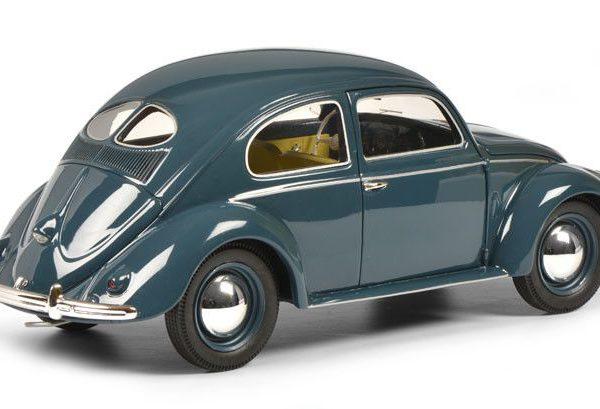 Volkswagen Kever Split window (Bril), 1948-1953 Blauw 1-18 Schuco Limited 500 Pieces