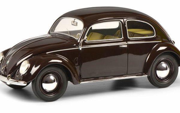 Volkswagen Kever Split window (Bril), 1948-1953 Donkerrood 1-18 Schuco Limited 500 Pieces