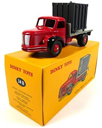 Berliet Plateau Avec Container Rood / Grijs 1-43 Dinky Toys ( Atlas )