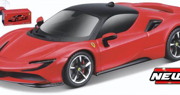 Ferrari SF90 Stradale Rood 1-43 Burago Signature Series