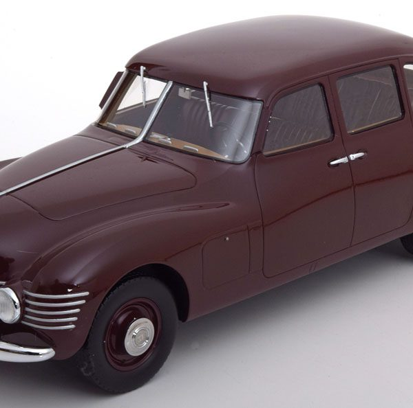 Horch 930S Stromlinie 1948 Donkerrood 1-18 CMF Limited 300 Pieces ( Resin )