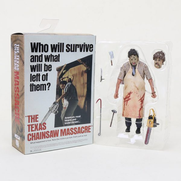 """The Texas Chainsaw Massacre"" Who will survive and what will be left of them"" Afmeting 7 inch Neca"