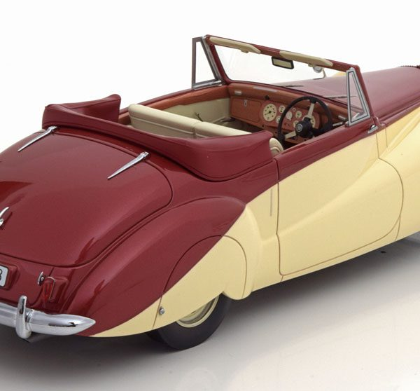 Daimler DB 18 Special Sports By Baker 1952 Rood Metallic / Beige 1-18 CMF Limited 300 Pieces ( Resin )