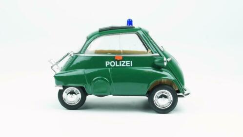 BMW Isetta 1959 Polizei Groen 1-18 Welly