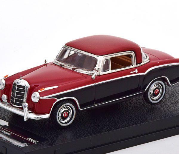 Mercedes-Benz 220 SE Coupe 1958 Rood / Zwart 1-43 Vitesse