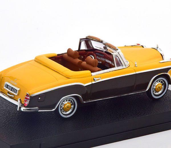 Mercedes-Benz 220 SE Cabrio 1959 Geel / Donkerbruin 1-43 Vitesse
