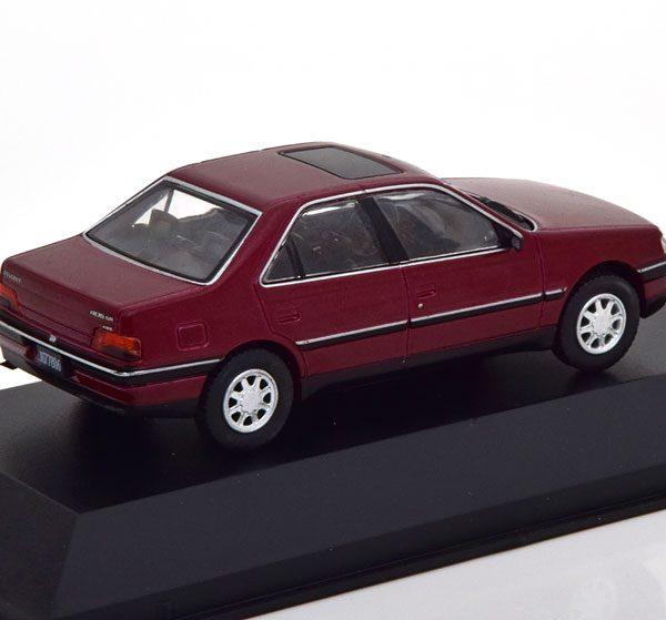 Peugeot 405 SR Limousine 1993 Bordeuax Rood 1-43 Altaya