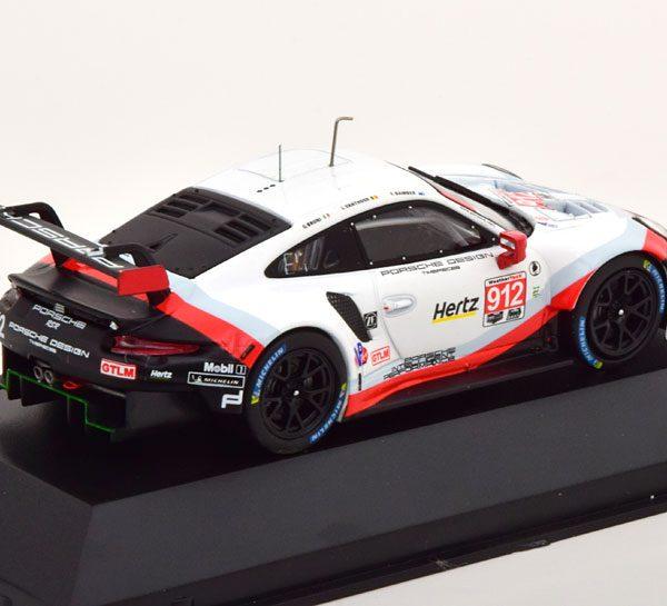 Porsche 911 (991) GT3 RSR No.912, 24h Daytona 2018 Vanthoor/Bruni/Bamber 1-43 Ixo Models