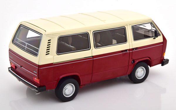 Volkswagen T3a Bus Donkerrood / Beige 1-18 Schuco ( Metaal )