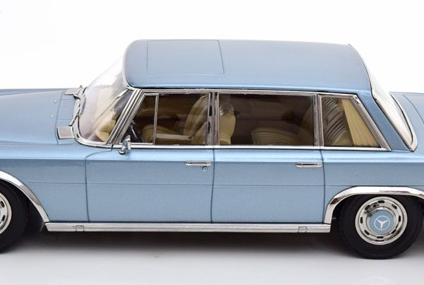 Mercedes-Benz 600 SWB ( W100 ) 1963 Blauw Metallic 1-18 KK Scale ( Metaal )