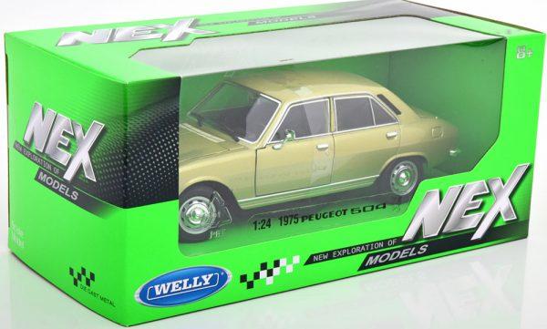 Peugeot 504 Limousine 1975 Helgroen Metallic 1-24 Welly