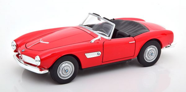BMW 507 Cabriolet 1957 ( Open ) Rood 1-24 Welly