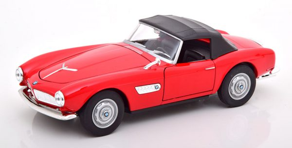 BMW 507 Cabriolet 1957 ( Gesloten Softtop ) Rood 1-24 Welly