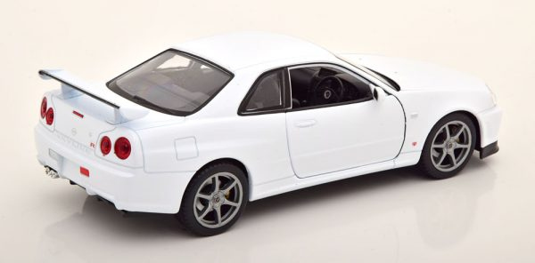 Nissan Skyline GT-R R34 Wit 1-24 Welly