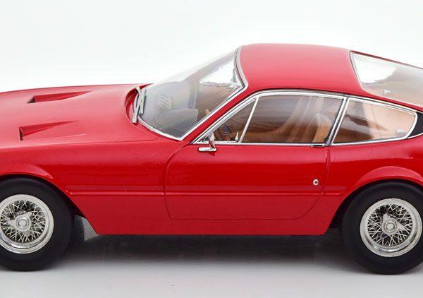 Ferrari 365 GTB/4 Daytona Coupe 1969 ( 1.Serie ) Rood 1-18 KK Scale ( Metaal )