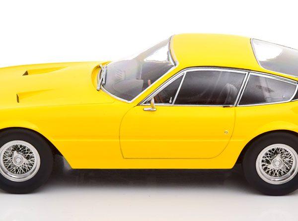 Ferrari 365 GTB/4 Daytona Coupe 1969 ( 1.Serie ) Geel 1-18 KK Scale ( Metaal )