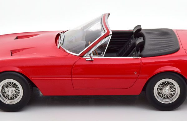 Ferrari 365 GTB/4 Daytona Cabrio 1969 ( 1.Serie ) Rood 1-18 KK Scale ( Metaal )