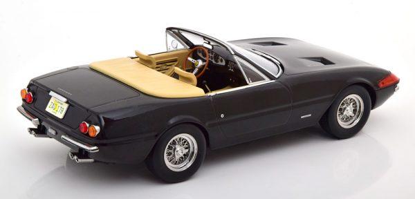 Ferrari 365 GTB Daytona Spyder 1969 (US Version ) Miami Vice Look Zwart 1-18 KK Scale ( Metaal )