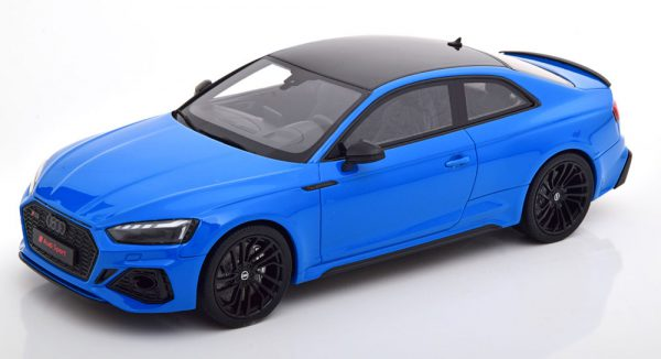 Audi RS 5 Coupe 2020 Blauw / Zwart 1-18 GT Spirit Limited 999 Pieces