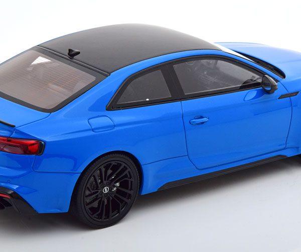 Audi RS 5 Coupe 2020 Blauw / Zwart 1-18 GT Spirit Limited 999 Pieces
