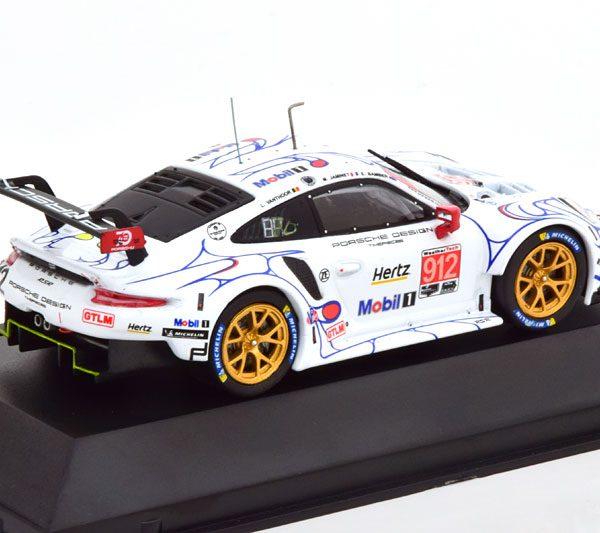 Porsche 911 (991) RSR No.912, Petit Le Mans 2018 Vanthoor/Jaminet/Bamber Wit 1-43 CMR Models