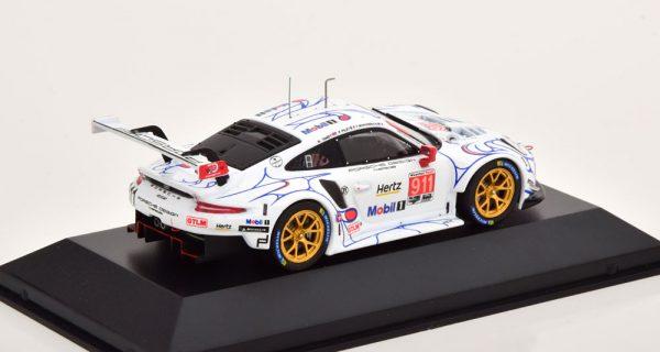 Porsche 911 (991) RSR No.911, Petit Le Mans 2018 P.Pilet / N.Tandy / F.Makowiecki Wit 1-43 CMR Models