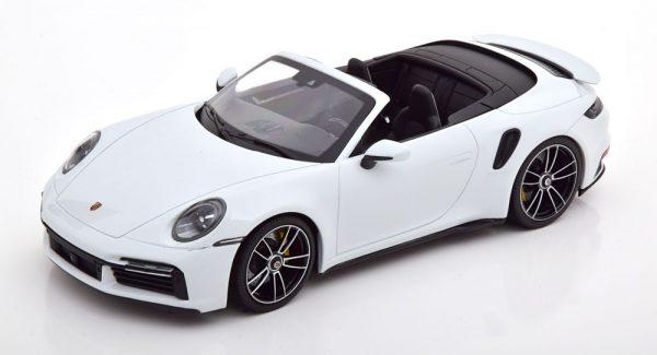 Porsche 911 (992) Turbo S Cabriolet 2020 Wit Metallic 1-18 Minichamps Limited 302 Pieces