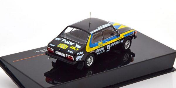 Saab 99 EMS No.4, Rally Sweden 1977 Blomquist/Sylvan 1-43 Ixo Models