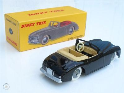 Simca 8 Sport Zwart 1-43 Dinky Toys ( Atlas )