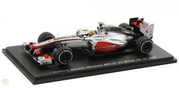 McLaren Mercedes Vodafone MP4-27 No.4 Winner US GP 2012 Lewis Hamilton 1-43 Spark