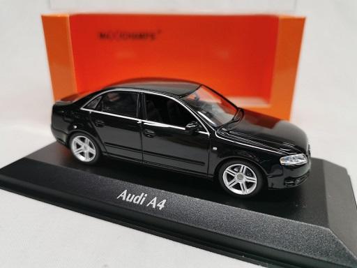 Audi A4 Limousine 2004 Zwart 1-43 Maxichamps