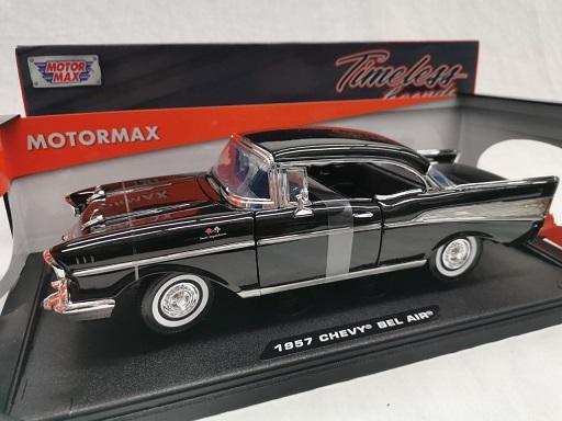 Chevrolet Bel Air 1957 Zwart 1-18 Motormax