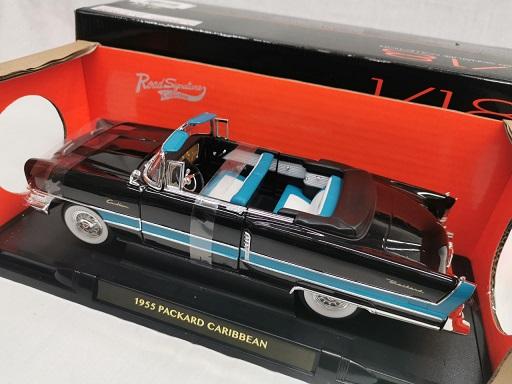 Packard Caribbean 1955 Zwart 1-18 Lucky Diecast