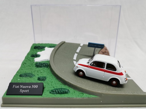 Fiat Nouva 500 Sport Wit / Rood 1-43 Altaya