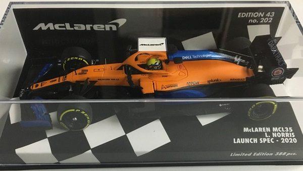 McLaren MCL35 L.Norris Launch Spec.2020 1-43 Minichamps Limited 388 Pieces
