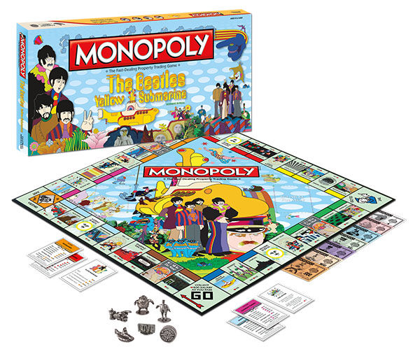 Monopoly The Beatles Yellow Submarine Usaopoly New ( Geseald )