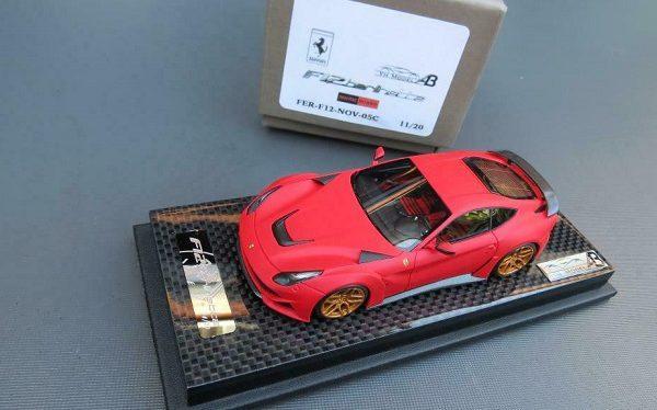 Ferrari F12 N Largo Mat Rood 1-43 YM Models Limited 20 Pieces