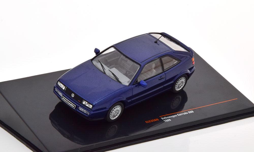 Volkswagen Corrado G60 1989 Blauw Metallic 1-43 Ixo Models