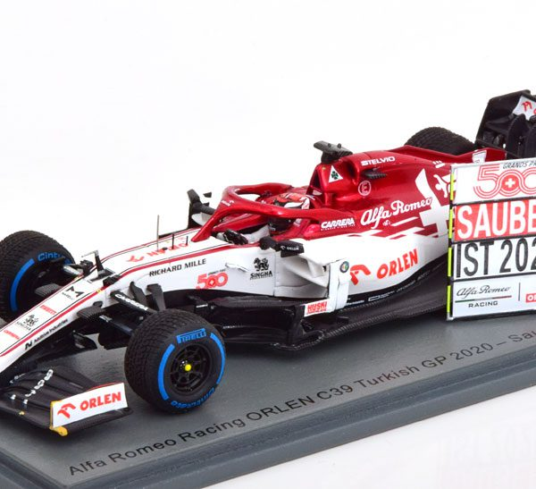 Alfa Romeo Racing Orlen C39 GP Turkish 500 Th Sauber GP Kimi Raikkonen 1-43 Spark ( Resin )