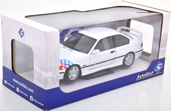 BMW E36 M3 Coupe Lightweight 1995 Wit 1-18 Solido