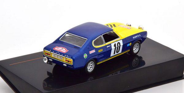 Ford Capri No.10, Rally Polen 1972 Röhrl/Berger 1-43 Ixo Models