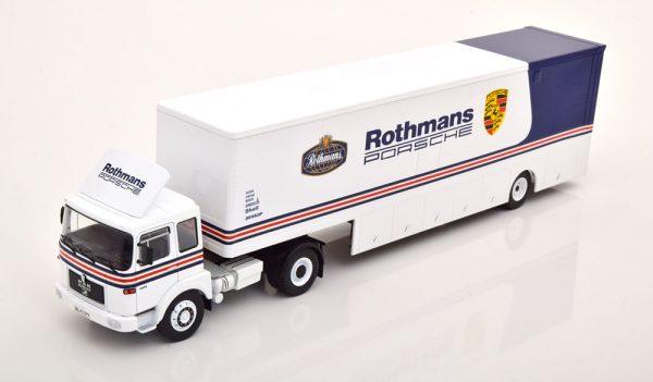 "M.A.N. Bussing Racing Transporter ""Rothmans Porsche""Wit / Blauw 1-43 Ixo Models"