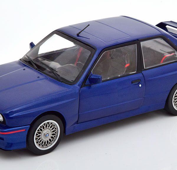 BMW M3 E30 Coupe 1990 Blauw 1-18 Solido
