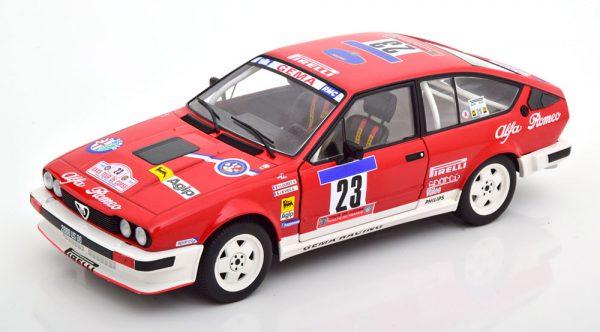 Alfa Romeo GTV 6 No.23, Tour de Corse 1985 Loubet/Vieu 1-18 Solido