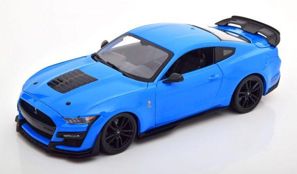 Shelby Mustang GT500 2020 Blauw 1-18 Maisto