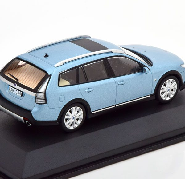 Saab 9-3X 2009 Blauw Metallic 1-43 Triple 9 Collection Limited 504 Pieces