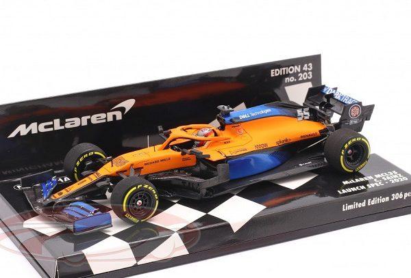 McLaren MCL35 #55 Launch Spec F1 2020 Carlos Sainz jr. 1:43 Minichamps Limited 306 Pieces ( Resin )