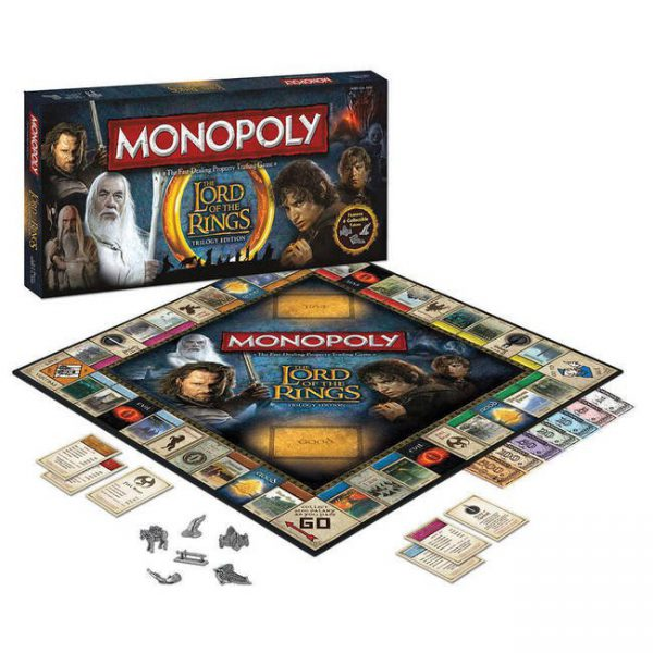 Monopoly The Lord of the Rings Trilogy Edition Usaopoly New ( Geseald )